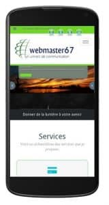 site web sur mobile